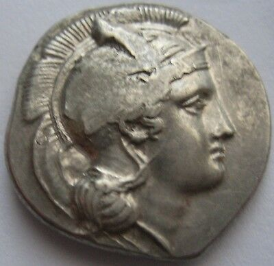 """STRAORDINARY SILVER ANCIENT COIN from 1 $ LUCANIA VELIA 365-340 bC""""Lion"""" STATER"""