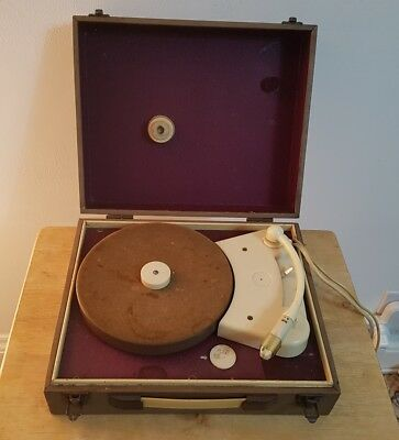 1950's Philips 424A Retro Record Player Part Working Vintage Display Spares 50's