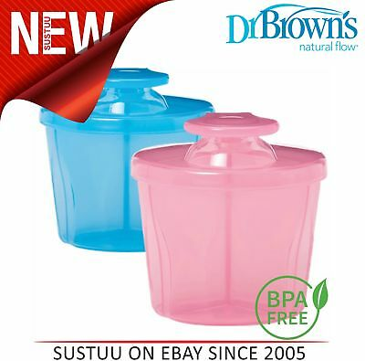 Dr Brown's  Milk Powder Dispenser Infant Easy Travel Baby No Spill Container Pot