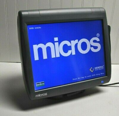 Micros Pos Terminal & Stand Ws-5 Res, 3700, 9700, E7  & 1 Year Warranty