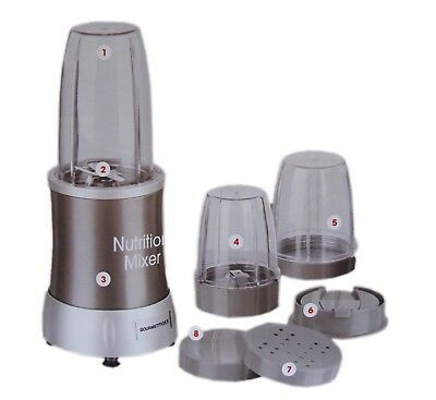 Gourmetmaxx Mixer 700W Smoothiemaker 10 tlg Standmixer Smoothie Maker Nutrition
