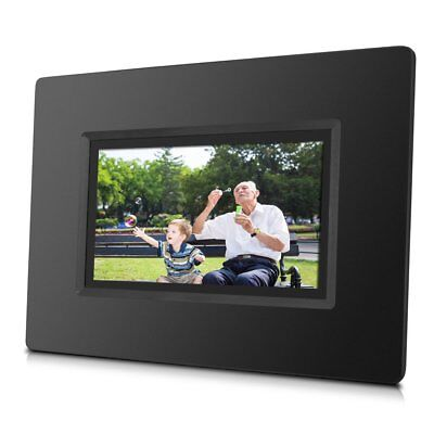 """Sungale CPF716 7"""" Cloud Digital Photo Frame With Touch Screen Operation, Black"""