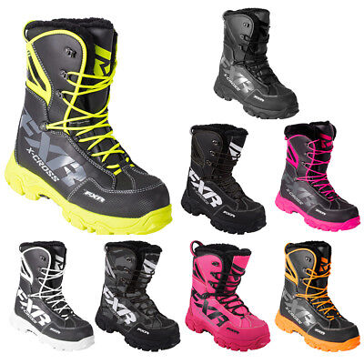 FXR X Cross Lace Boot Authentic Durable Lightweight Toe Kick Snocross Snowmobile