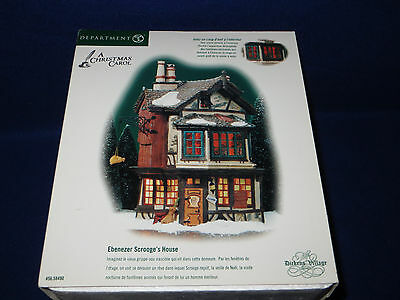 """ebenezer Scrooge's House"" Dept. 56 Dickens Village Lighted House #58490 - Mib"