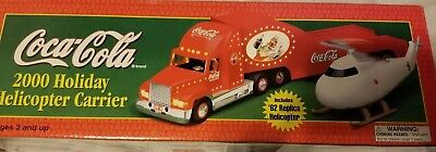 Coca Cola 2000 Gold Holiday Helicopter Carrier Truck
