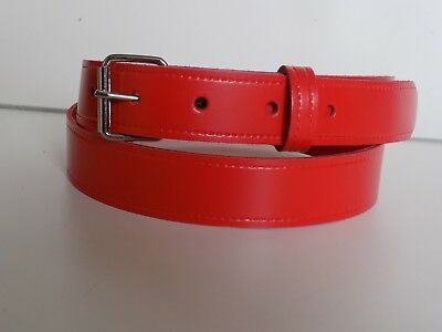 Children's real leather belts in RED