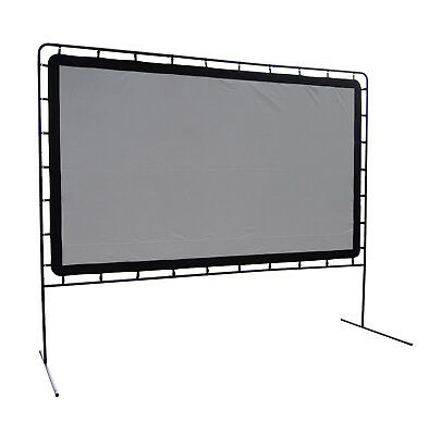 """Camp Chef Rear Projection 144"""" Portable Theater Movie Screen Outdoor Projector"""