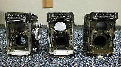 3 Vintage Rolleiflex Cameras (Lot of 3) ☆ Parts or Repair ☆