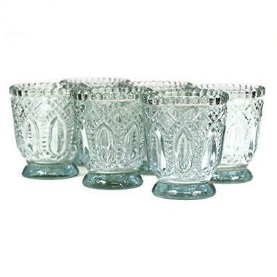 Vintage Glass Clear Candle Holder Pack Of 6 Home Indoor Decoration Candleholders