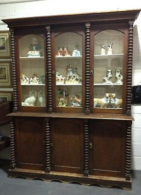 Large Unusual Rustic Antique Victorian Stained Pine Farmhouse Dresser