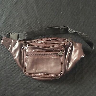 Wilson Leather Fanny Pack Retro Brown Travel Hip Bag