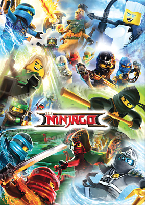 Lego Ninja Go Posters Kids Boys Girls Wall Art Poster | A4 or A3 | FREE DELIVERY