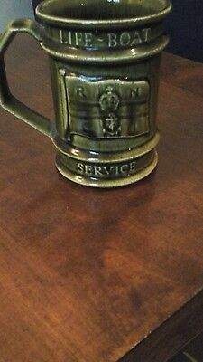 Vintage Holkham bottle green RNLI life boat Atlantic mug