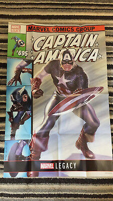 "CAPTAIN AMERICA #695 BY ROSS POSTER - 24"" x 36"" - MARVEL LEGACY - FOLDED"