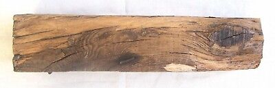 """Old Square Garden Piece of Wood antique vintage rustic home decor iron nails 17"""""""