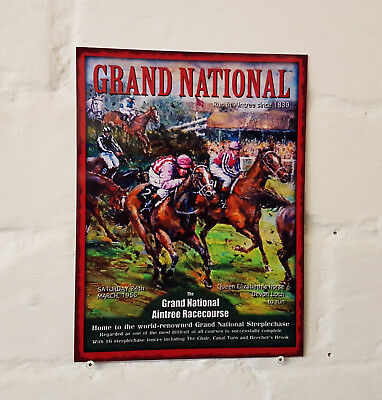 Grand National 1956 Retro metal Aluminium Sign vintage bar pub man cave beer