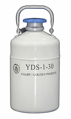 1 L Liquid Nitrogen Container Cryogenic LN2 Tank Dewar with Strap YDS-1-30