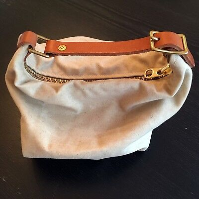 Wood & Faulk Handcrafted Waxed Canvas Tote
