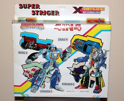 Super Striger Strategic Plan 4 in 4 Transformers KO nuovo MIB