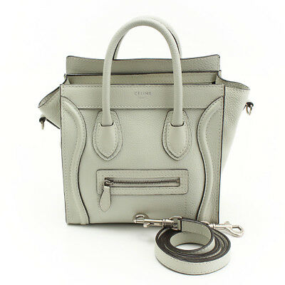 068927bae29d Authentic Celine Luggage Nano Shopper 2Way Shoulder 168243 Grey Grade Ab  Used-At