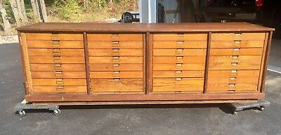 Huge Antique General Store Counter Cabinet Apothecary Solid Oak