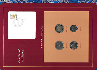 Coin Sets of All Nations Ghana UNC 100, 50, 20, 10 Cedis 1991