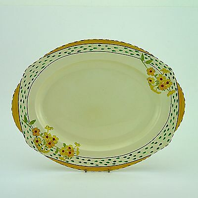 "Vintage Burleigh Ware Art Deco 'Golden Days 4971A' Oval Platter (1930s) -16""x13"""