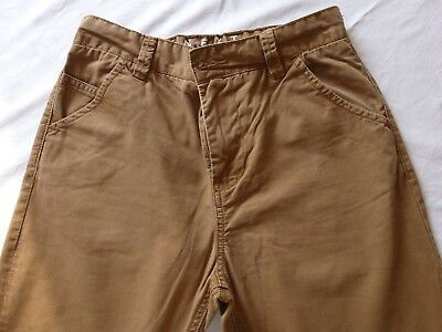 Next Boys Brown Chinos Trousers Size 10 plus Years 140cm Cotton