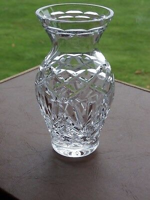 "Irish Tyrone Crystal 6"" Vase"