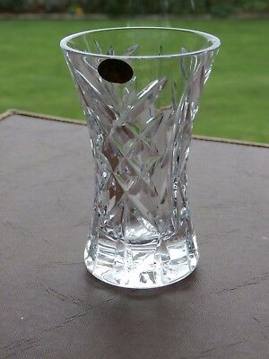 "Irish Tyrone Crystal  4""  Vase"