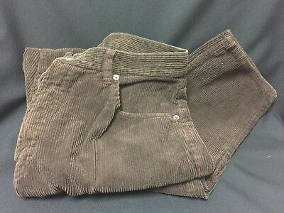 Gap Womens Dark Brown Corduroy Mid Rise Jeans sz 14