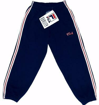 Fila Boys Kids Children's Jogging Sweat Pull On Pants Fleece Bottoms Age 4 5 6 7