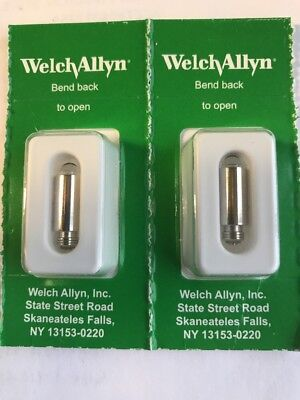 03100 REPLACEMENT LIGHT BULBS FOR WELCH ALLYN Otoscopes, Illuminators - 2 PACK