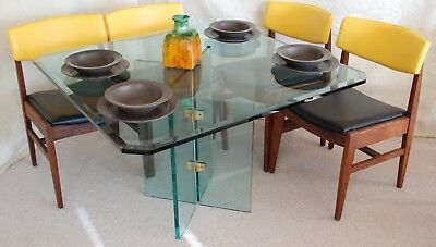 Mid Century Modern Glass Dining Table from the Pace Collection