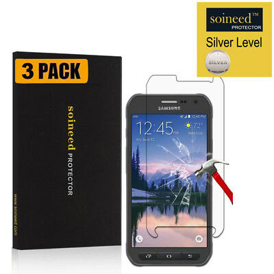 【3-PACK】SOINEED Samsung 【Galaxy S6 Active】 G890A Tempered Glass Screen Protector