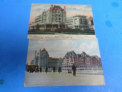 Two Vintage Post Cards , Atlantic City 1908, The Dennis, Marlborough-Blenheim