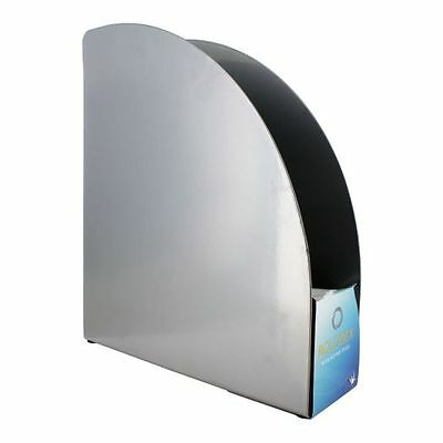 Rolodex Metal Magazine File Holder Black and Silver, Each #82427