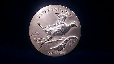 RARE! Ducks Unlimited 2.715ozt PURE SILVER Medal **Old Squaw** by Larry Toschik