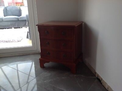 Yew Wood Reproduction 3 Draw Unit