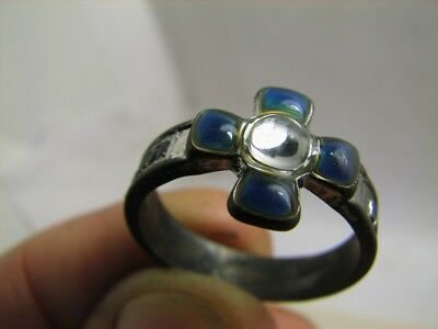 PRAYER: KEEP and RESCUE !EXCELLENT OLD VINTAGE RUSSIAN CHURCH RING / STONE #6612