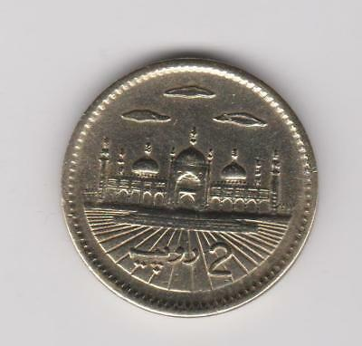 1999 Pakistan ~ 2 Rupees with Normal Clouds  KM#64