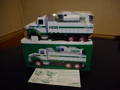 2017 Hess Toy Dump Truck And Loader W/box Damage
