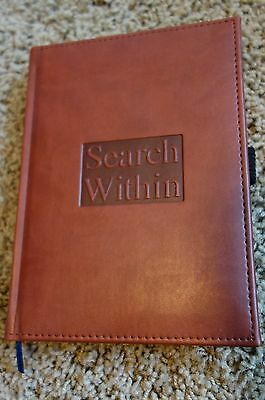 Embossed SEARCH WITHIN Writing Journal, Lined Pages, NEW: Shrink Wrapped
