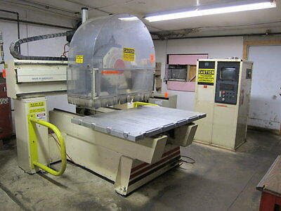 THERMWOOD MODEL C-40 3-AXIS CNC ROUTER WITH 8 POSITION TURRET 5' x 5' table