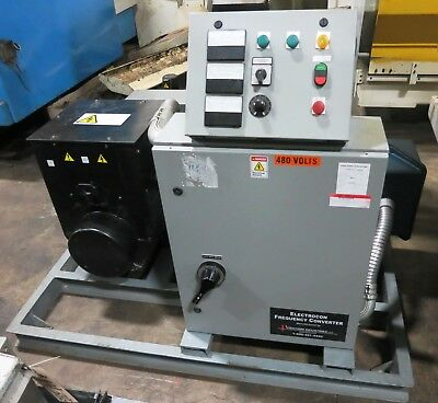 Visicomm Industries Model 75Ind6050 75 Kva Rotary Frequency Convertor From 60Hz
