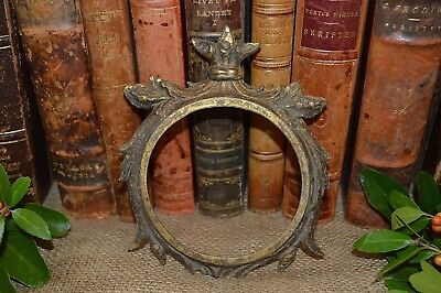 Antique French Clock Frame Face Surround Bronze Ormolu