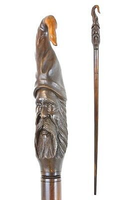 WIZARD wooden walking stick / STAFF carved from Hardwood 150 cm STAVE / CANE