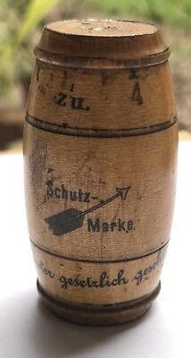 Antique Needle Case Shaped Like Barrel Made In German