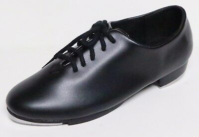 Theatricals 7111 Dance Tap Shoes Toddler Sizes Black Lace Up Star Tone New