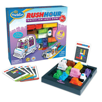 Think fun Rush Hour Junior Kid's Traffic Jam Logic Puzzle Board Challenge Game